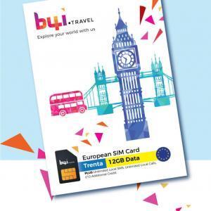 b4i.travel European travel sim - Trenta package
