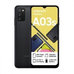 Samsung Galaxy A03s in black